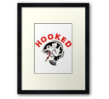 FISHING - ANGRY FISH HOOKED Framed Print