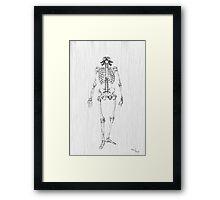 Deadly Skeleton Framed Print