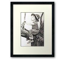 Toddler Contemplation Framed Print