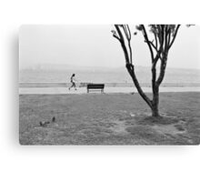 Sea-side Walk Canvas Print