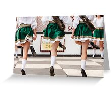 irish dancers Greeting Card