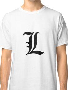 L Death Note Classic T-Shirt