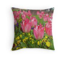 Tulip Sisters (Watercolor) Throw Pillow