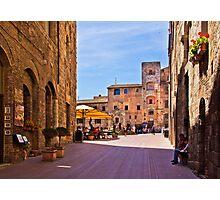 Morning in San Gimignano, Tuscany Photographic Print