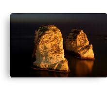 Night Shot - 02 - Beirut - Raouche - II Canvas Print