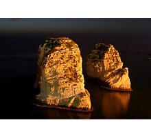Night Shot - 02 - Beirut - Raouche - II Photographic Print