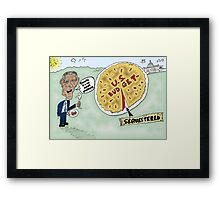 Sequestered Budget Obama caricature Framed Print