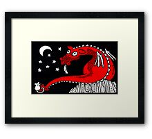 Little Red Dragon Framed Print
