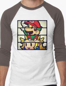 Nintendo Paper Mario Luigi Princess Bowser Men's Baseball ¾ T-Shirt