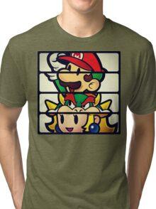 Nintendo Paper Mario Luigi Princess Bowser Tri-blend T-Shirt