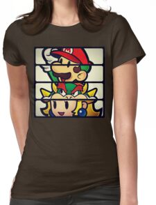 Nintendo Paper Mario Luigi Princess Bowser Womens Fitted T-Shirt