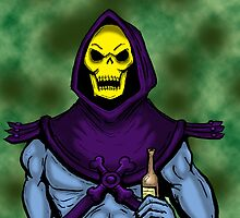 Skeletor likes Beer by Jay Stuart