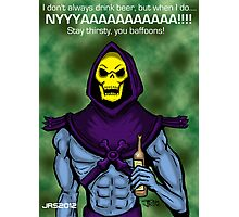 Skeletor likes Beer Photographic Print