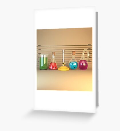 Usual Suspects Lineup - Cute Chemistry Greeting Card