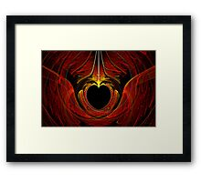 Fractal - Heart - Victorian love Framed Print