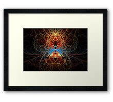 Fractal - Insect - Black Widow Framed Print