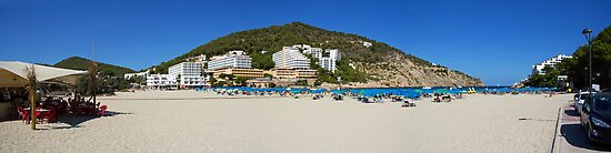 Cala Llonga Beach Panorama by Tom Gomez