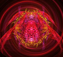 Fractal - Insect - Jeweled Scarab by Mike  Savad