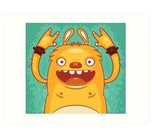 Punk Rock Monster Art Print