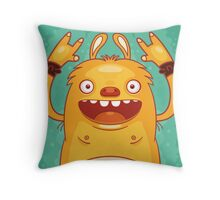 Punk Rock Monster Throw Pillow