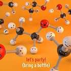Let&#x27;s Party - Ethanol Molecule - Cute Chemistry by chayground