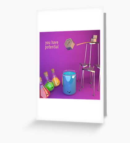 You Have (Gravitational) Potential - Cute Chemistry Greeting Card