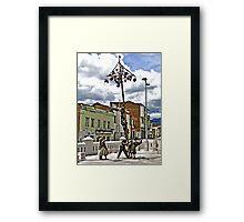 Greased Pole Fun Framed Print