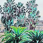 Santa Monica Palms by infiniteartfoto