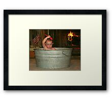 Cleaning Up Framed Print