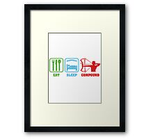 EAT SLEEP COMPOUND Framed Print