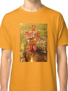 Robot Gets Down With Nature. Classic T-Shirt