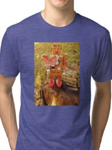 Robot Gets Down With Nature. Tri-blend T-Shirt