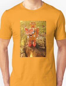 Robot Gets Down With Nature. Unisex T-Shirt
