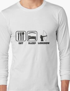 EAT SLEEP LONGBOW Long Sleeve T-Shirt