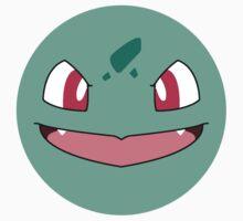 Bulbasaur Full Face (Sticker) by P-ZERO