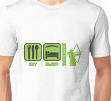 EAT SLEEP RECURVE Unisex T-Shirt
