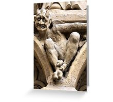 Notre Dame bestiary in Paris, France Greeting Card