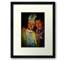 Papal Conclave Dance Party Framed Print
