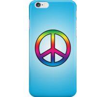 Smartphone Case - Peace Sign - Cyan iPhone Case/Skin