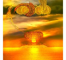 Sunset fractal Photographic Print