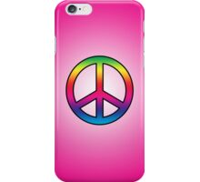 Smartphone Case - Peace Sign - Magenta iPhone Case/Skin