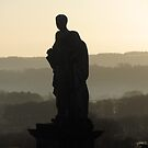 Statue and sunrise by ClaireWroe