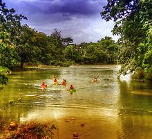 Mopan River in Bullet Tree Village - Belize, Central America by Jeremy Lavender Photography