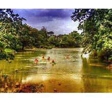 Mopan River in Bullet Tree Village - Belize, Central America Photographic Print