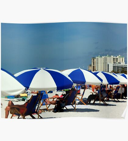 Clearwater Beach Umbrellas Poster