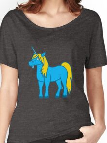 Gold & Blue Unicorn Women's Relaxed Fit T-Shirt
