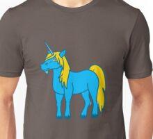 Gold & Blue Unicorn Unisex T-Shirt