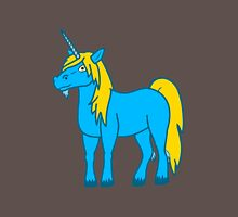 Gold & Blue Unicorn Unisex T-Shirt