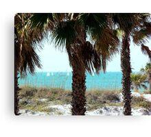 Clearwater Beach Sail Boats Canvas Print