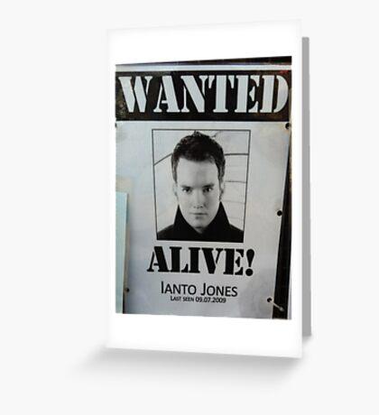 Wanted Alive Ianto Jones  Greeting Card